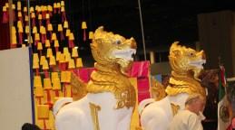 Colorful exhibits