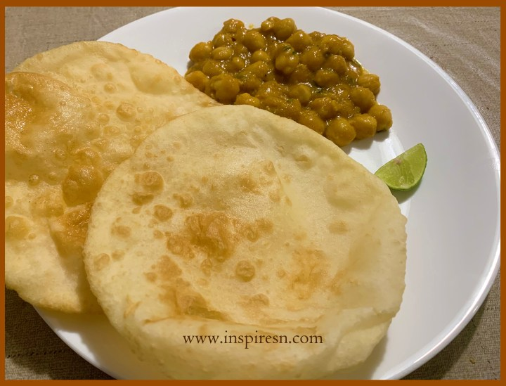 batura with chole