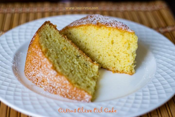 Citrus Olive Oil Cake slices