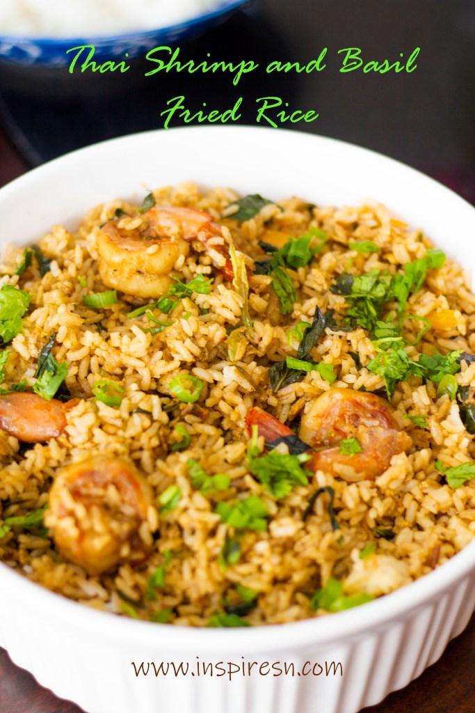 Thai Shrimp and basil fried rice
