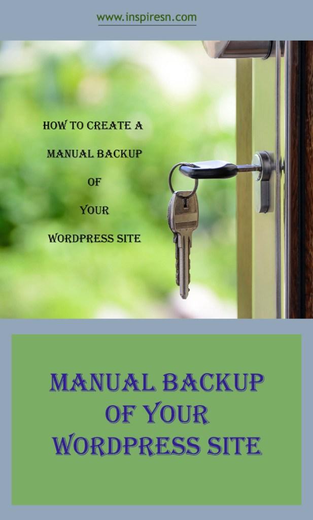Manual Backup of your wordpress site