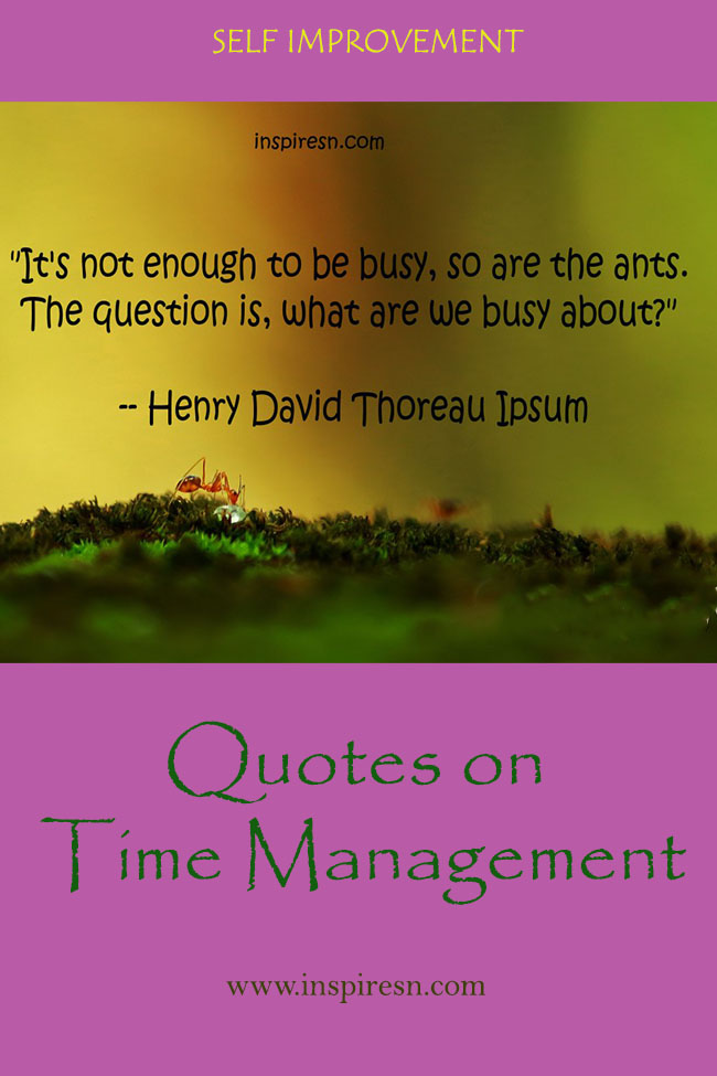 Quotes on Time Management