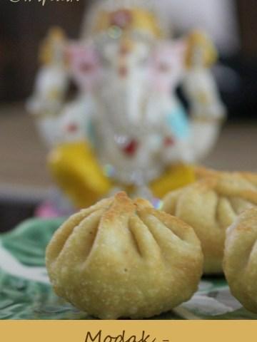 Modak sweet fried dumplings