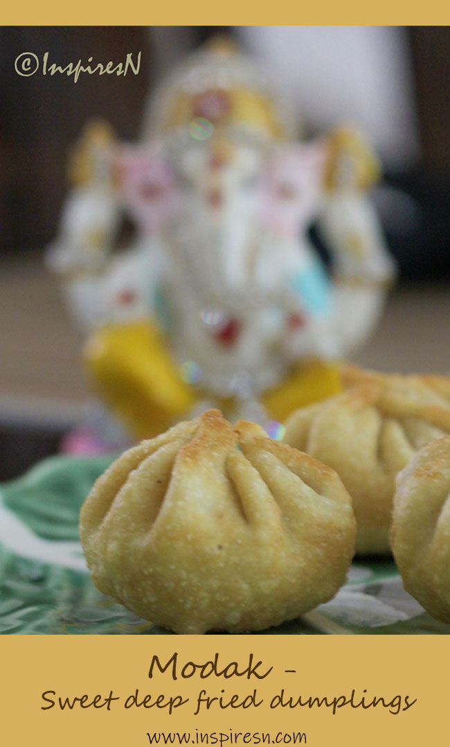 Modak sweet fried dumplings