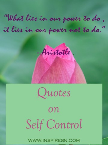 Quotes on self control
