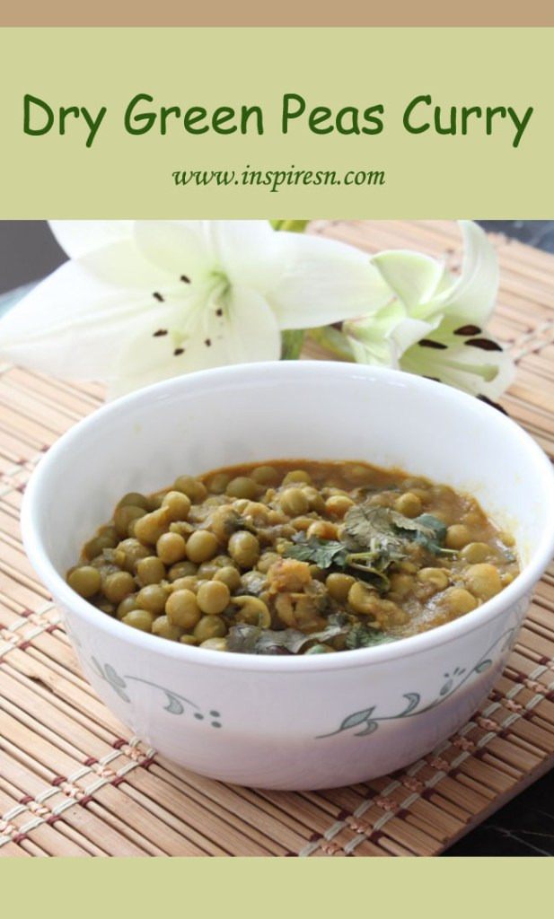 Dry Green Peas Curry