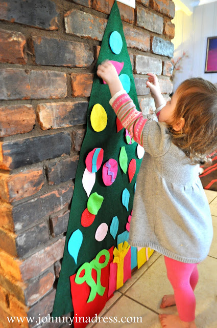 arvore de natal de parede em feltro 3