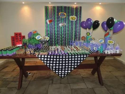 Decoração Festa Infantil Hulk