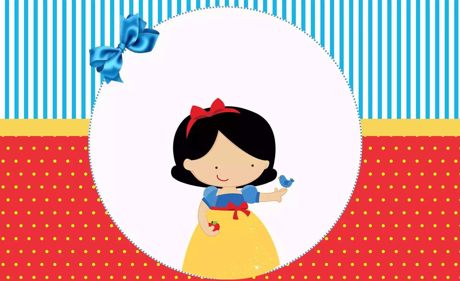 Branca de Neve – Kit festa infantil grátis para imprimir