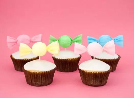 Como fazer Topper para Cupcakes em formato de balas – Passo a passo