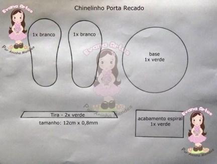 Chinelinho porta recado (2)
