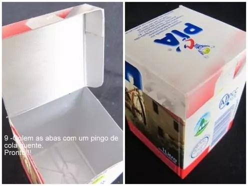 Como fazer Caixinha com Caixa de Leite – PAP