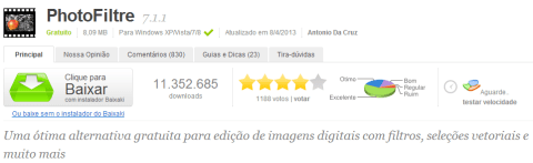 Como fazer o download do Photofiltre e deixá-lo em Português