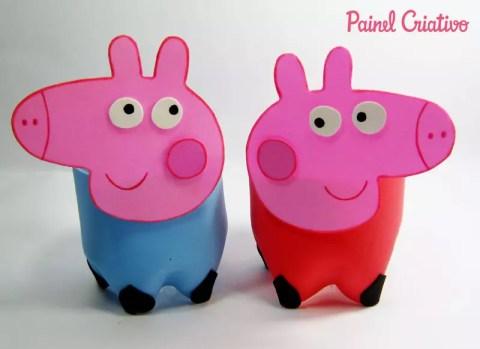 Como  fazer Lembrancinha da Peppa Pig com garrafa pet – PAP
