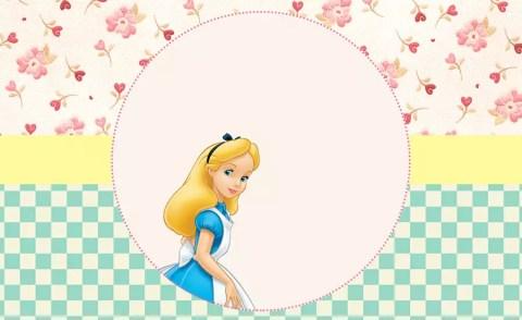 Alice no País das Maravilhas – Kit festa grátis para imprimir