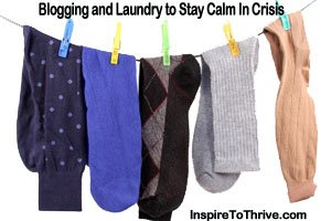 blogging and doing laundry