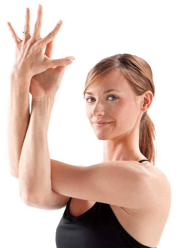 Inspire Yoga Teacher Trainer in Eagle Arms Pose