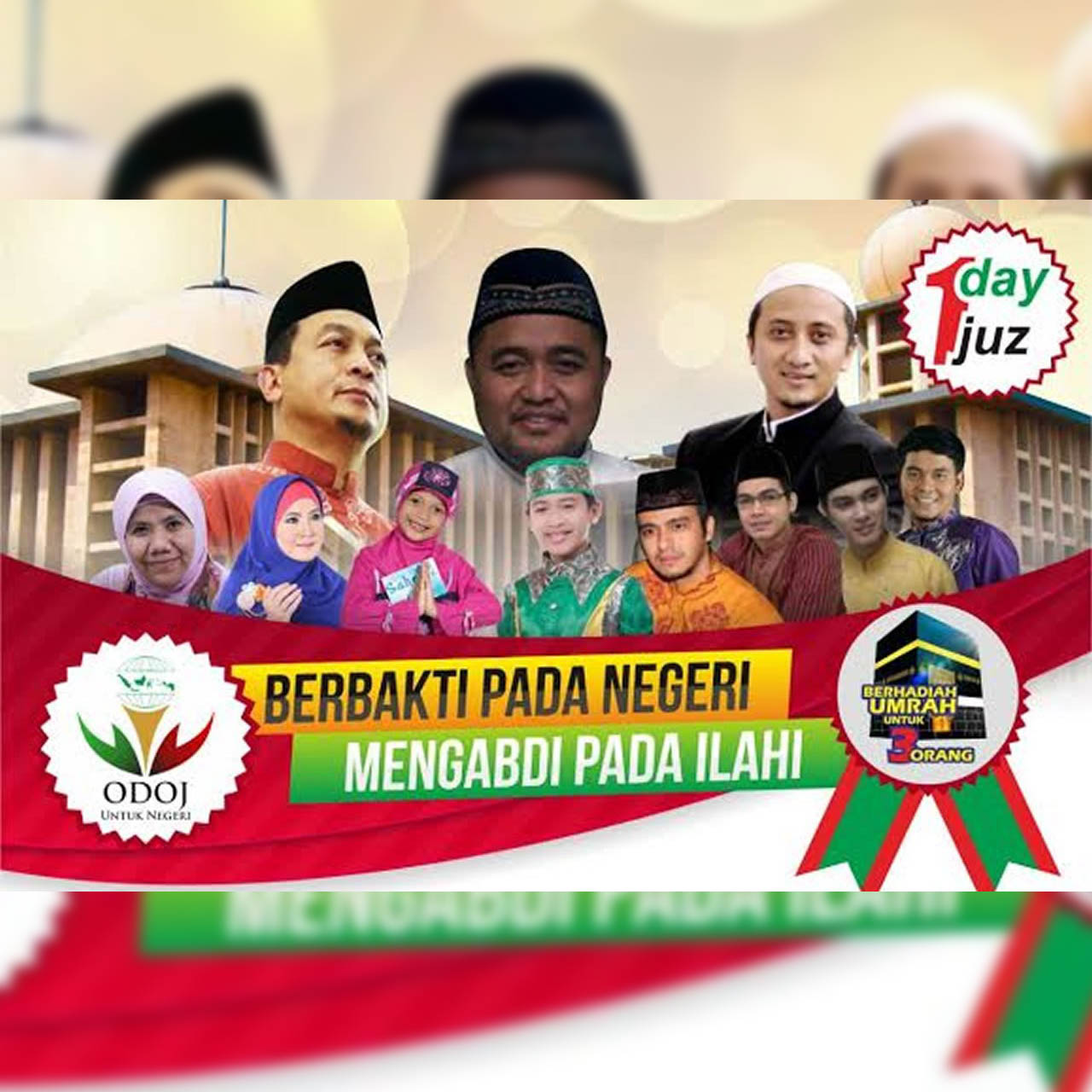 Masjid Istiqlal, ODOJ, one day one juz, ODOJ untuk negeri, OUN, Tilawah Quran, Wirda Mansur, Hamas Syahid Izzudin, Damai Indonesiaku Istiqlal, tilawah quran