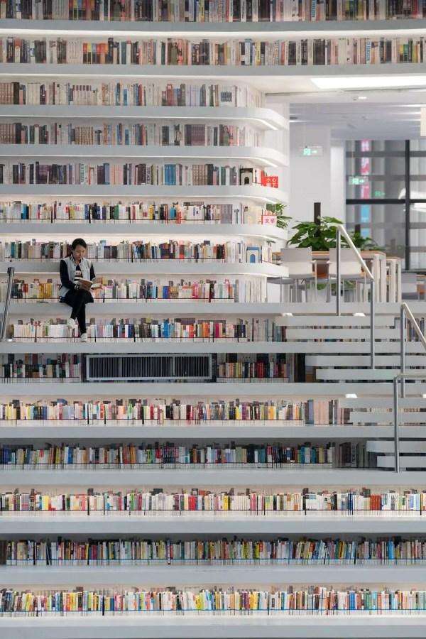 perpustakaan, perpustakaan terbesar di dunia, perpustakaan keren, perpustakaan tianjin china