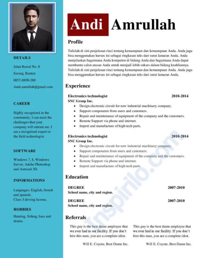 Contoh Cv Fresh Graduate S1