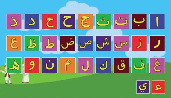 belajar cara membaca dan menulis huruf hijaiyah / arab dengan video, gambar, lagu dan game huruf hijaiyah