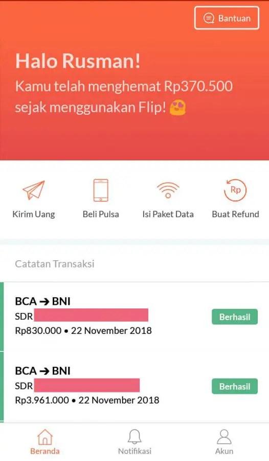 1c9364f82c63e Review Jujur  Aplikasi Flip - Transfer Antar Bank Gratis No Biaya Admin