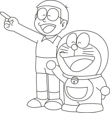 gambar mewarnai doraemon nobita