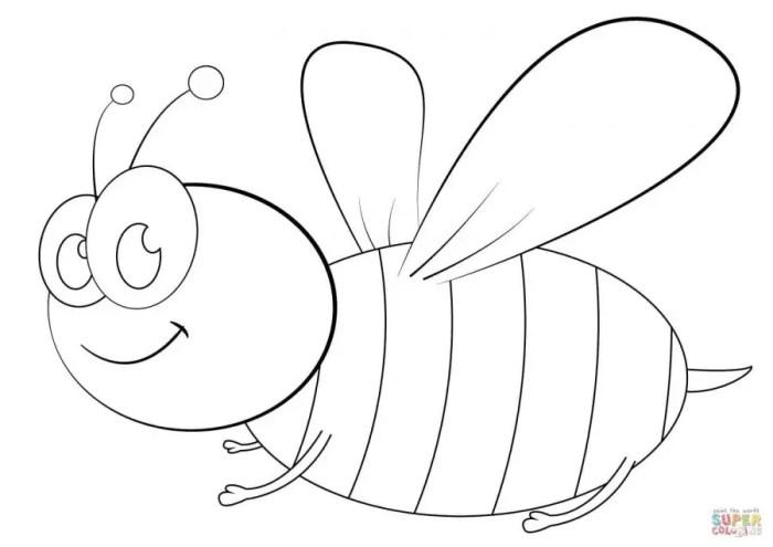 Gambar Lebah Untuk Mewarnai Download Gambar Mewarnai Gratis