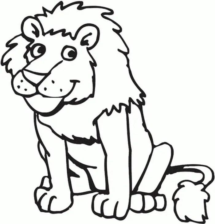 mewarnai gambar hewan singa