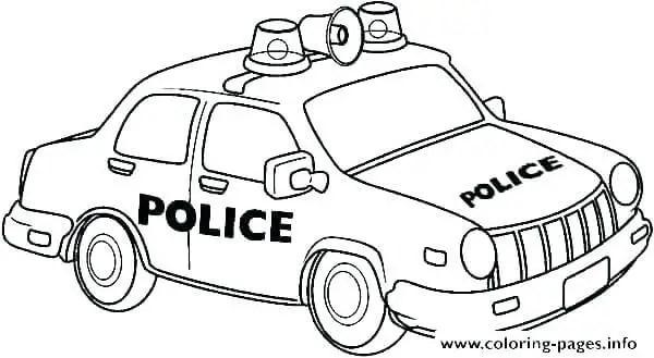 gambar mewarnai mobil polisi