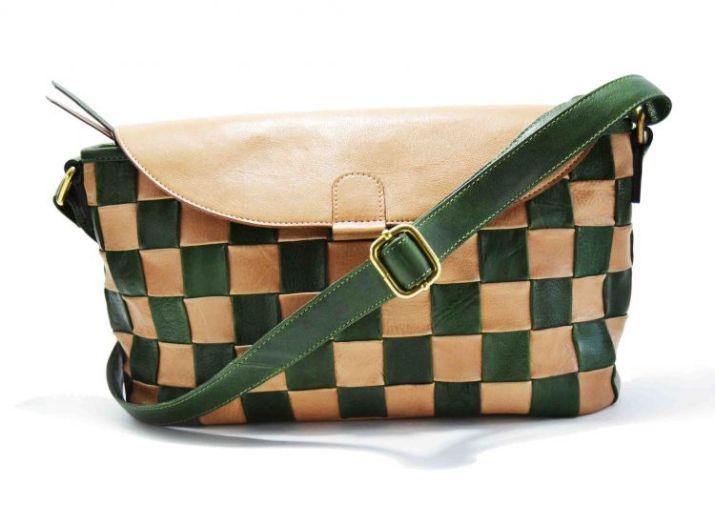 jual tas kulit wanita branded Inggrid Bag Natural - Green