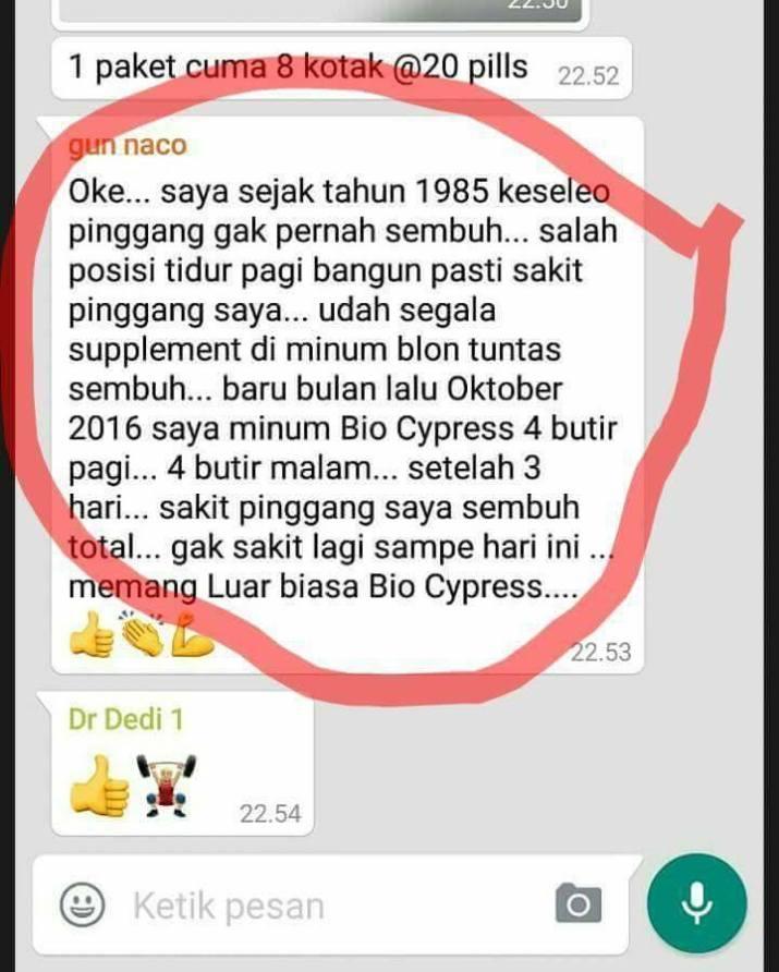 testimoni biocypress