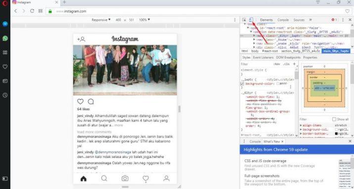cara upload foto di instagram tanpa software
