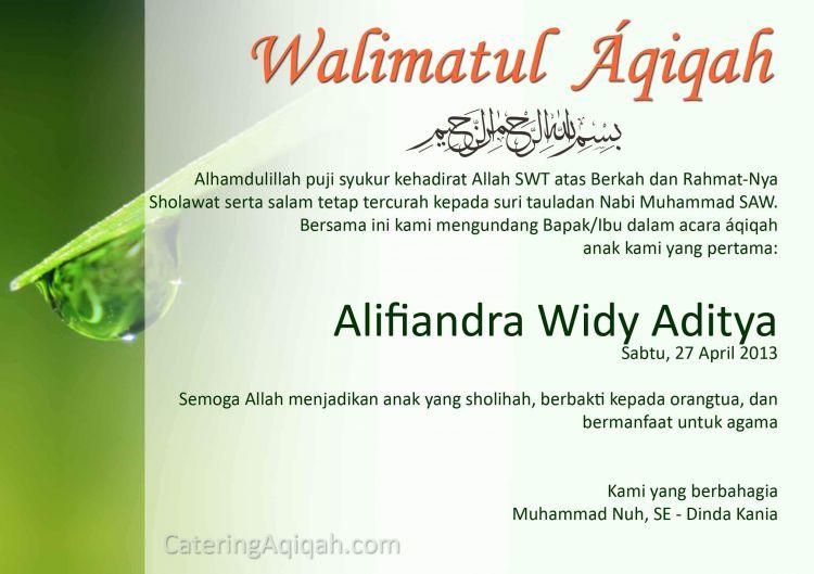 contoh unganan aqiqah