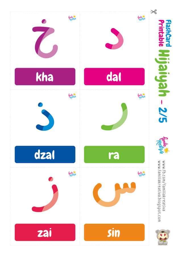 gambar huruf hijaiyah satu persatu berwarna