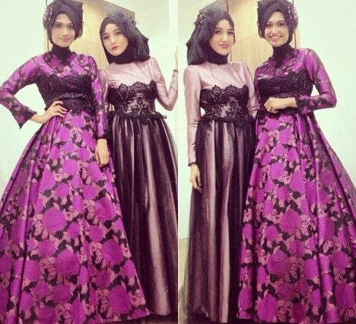 Model-gamis-batik-kombinasi-brokat-pesta