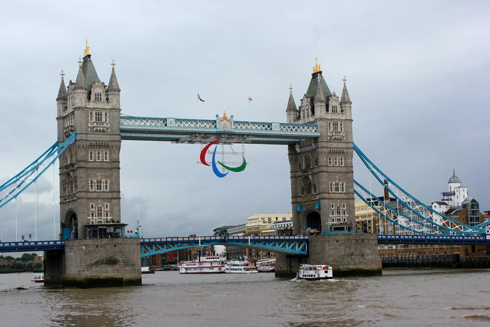 Tower Bridge and the Paralympic Agitos