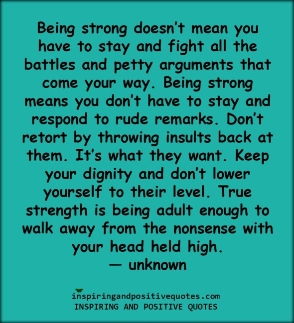 Being strong doesnt mean...