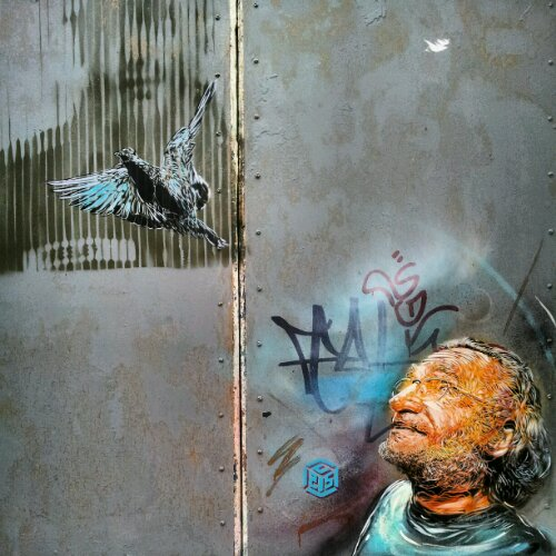 A piece of work by C215 formerly on Blackall Street in London but now disappeared