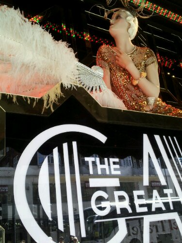 The Great Gatsby Display in Harrods