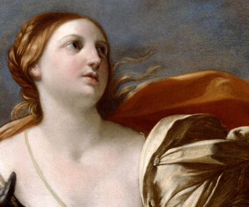 Detail from the original by Guido Reni courtesy of Dulwich Picture Gallery