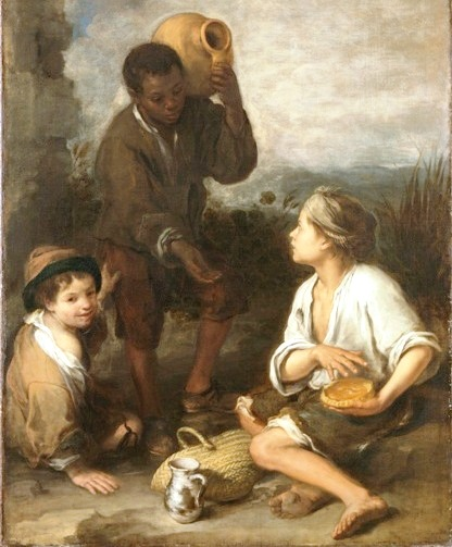 The original by Bartolome Esteban Murillo courtesy of Dulwich Picture Gallery