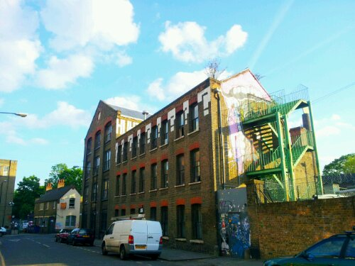 Warehouse with a bit of Sweet Toof art on Smeed Road