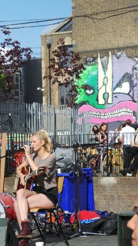 At the back of the Crate Brewery there were stalls and music.