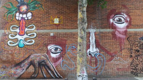 Josh Jeavons is based in the area and has been using the Bream Street wall as a canvas