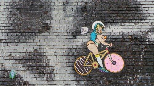 Braithwaite Street riding a bike