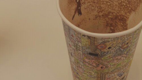 Paul Westcombe's 'Coffee Cups' are just that, art created on used cups of hot drink