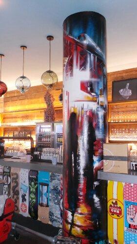 The bar even boasts a Dan Kitchener pillar