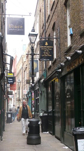 Artillery Passage was an inspiration for the Harry Potter films. We pass through this on our walking tour of the East End of London