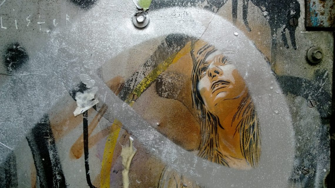 An old C215 piece, heavily tagged on Fashion Street